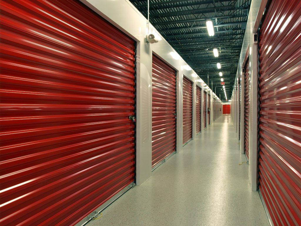 Indoor Newcastle self storage facility