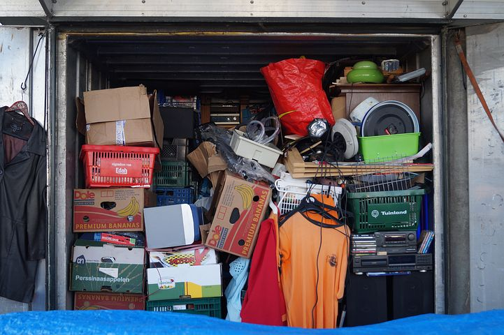 storage full of unused belongings