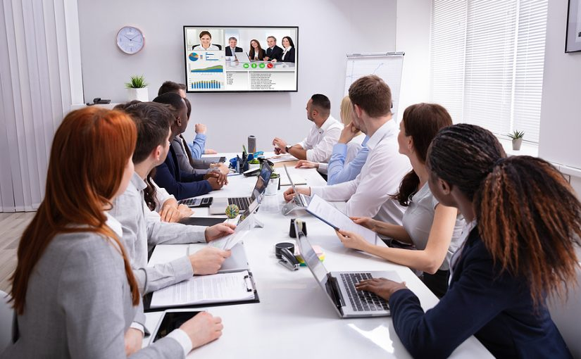 Company using a video conferencing Melbourne application